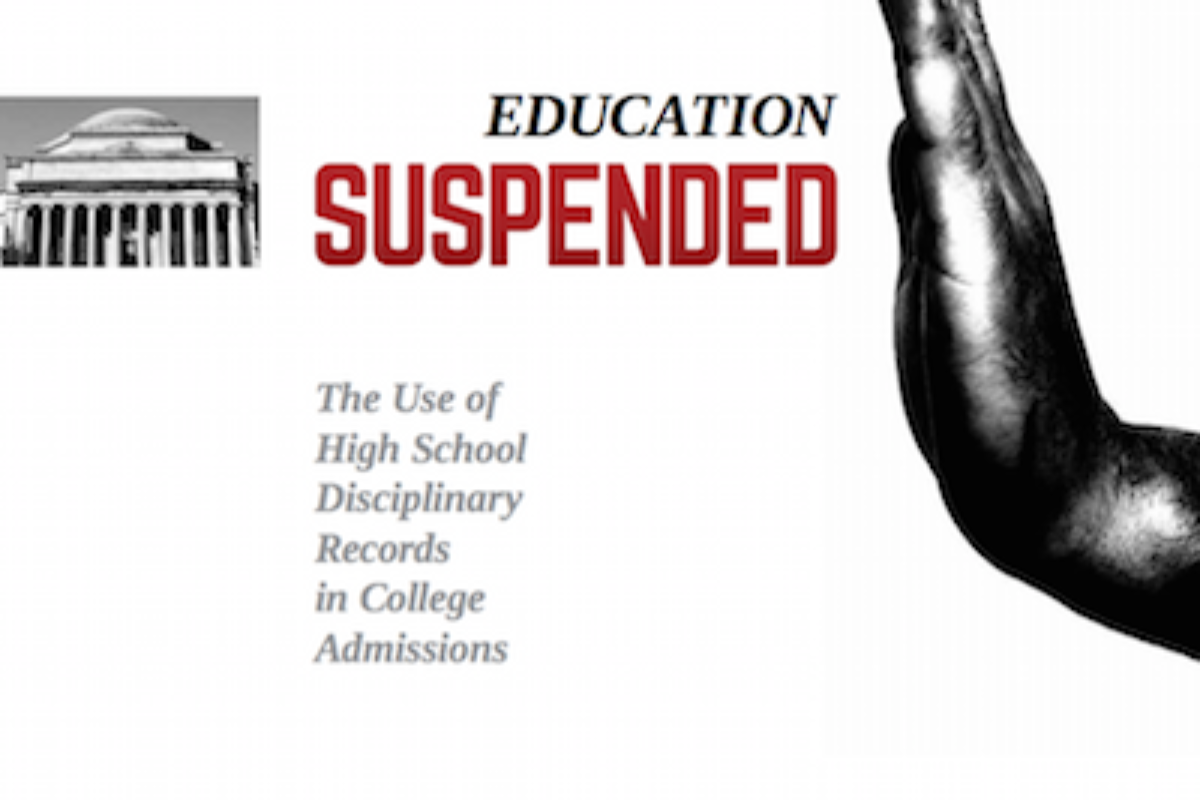CCA-Education Suspended: The Use of High School Disciplinary Records in College Admissions Report