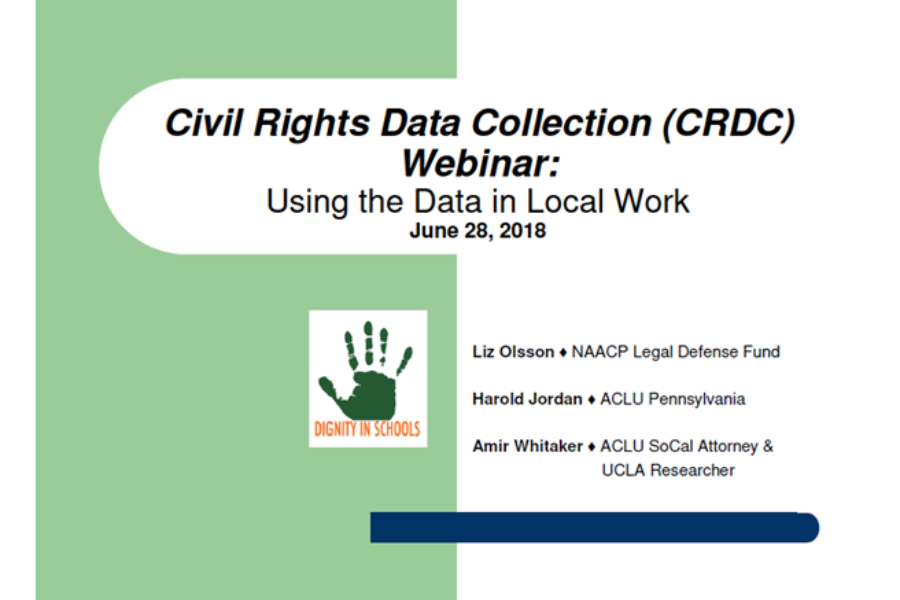 Civil Rights Data Collection Webinar Slides